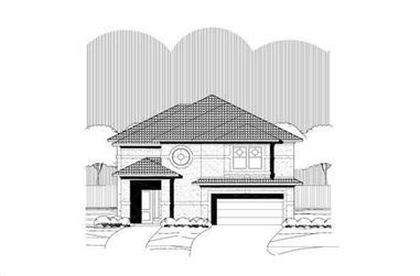 3-Bedroom, 2733 Sq Ft Mediterranean House Plan - 156-1279 - Front Exterior