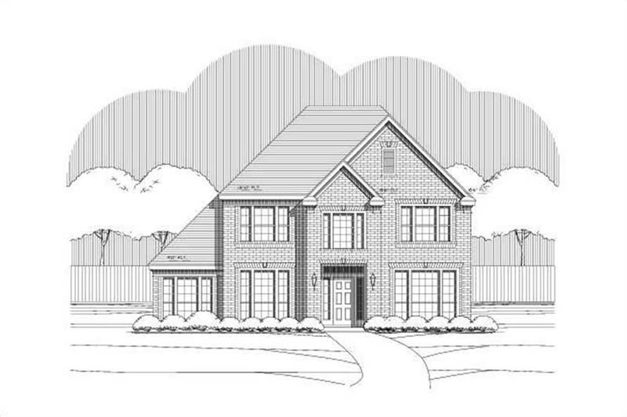 4-Bedroom, 3043 Sq Ft Traditional Home Plan - 156-1280 - Main Exterior