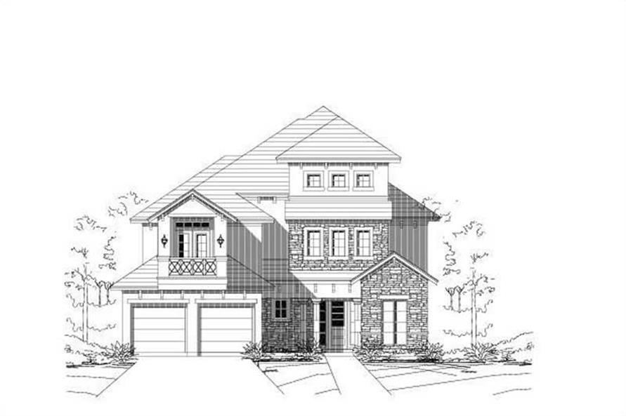 3-Bedroom, 3390 Sq Ft Luxury Home Plan - 156-1281 - Main Exterior
