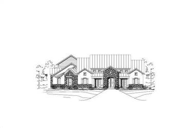 4-Bedroom, 3519 Sq Ft Country Home Plan - 156-1282 - Main Exterior