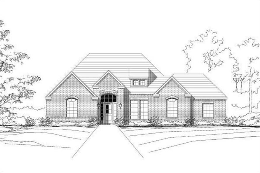 4-Bedroom, 2052 Sq Ft Traditional Home Plan - 156-1283 - Main Exterior