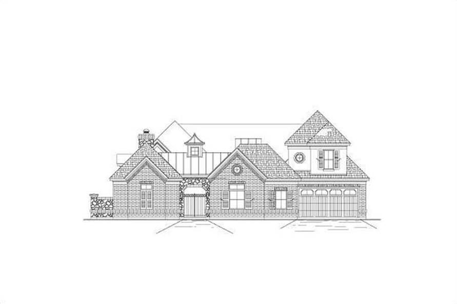5-Bedroom, 4933 Sq Ft Luxury House Plan - 156-1284 - Front Exterior