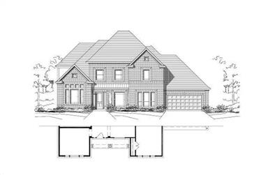 5-Bedroom, 4525 Sq Ft Luxury Home Plan - 156-1286 - Main Exterior
