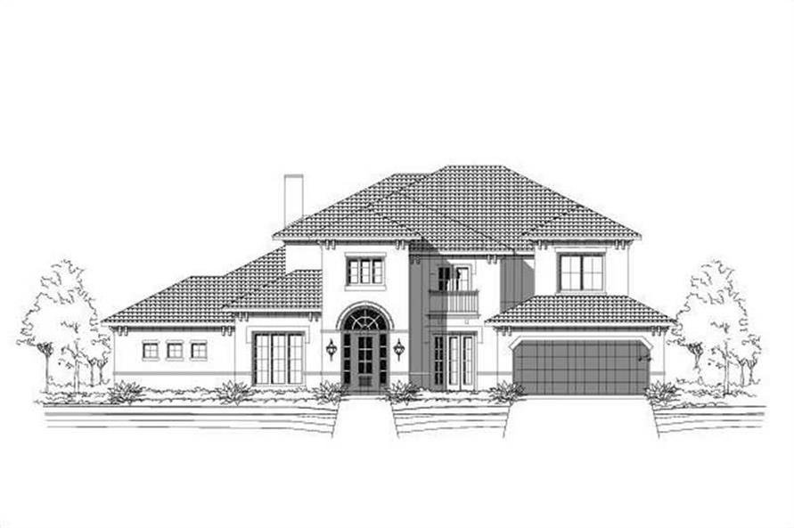 5-Bedroom, 4642 Sq Ft Mediterranean House Plan - 156-1287 - Front Exterior