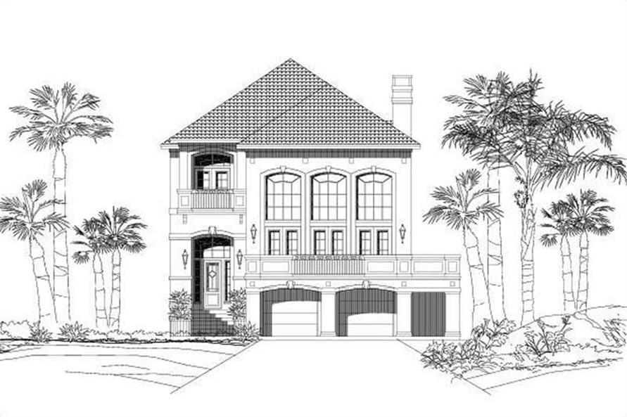 3-Bedroom, 3047 Sq Ft Coastal House Plan - 156-1288 - Front Exterior