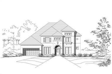 4-Bedroom, 4001 Sq Ft Luxury Home Plan - 156-1289 - Main Exterior