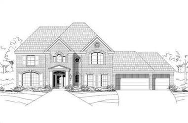 4-Bedroom, 3630 Sq Ft Luxury Home Plan - 156-1294 - Main Exterior