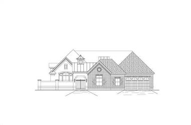4-Bedroom, 3566 Sq Ft Luxury House Plan - 156-1295 - Front Exterior