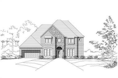 4-Bedroom, 4113 Sq Ft Luxury Home Plan - 156-1299 - Main Exterior