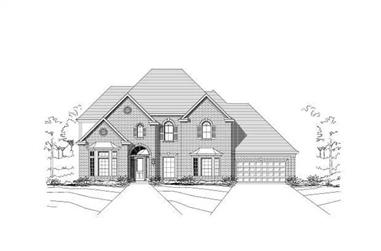5-Bedroom, 4525 Sq Ft Luxury Home Plan - 156-1300 - Main Exterior