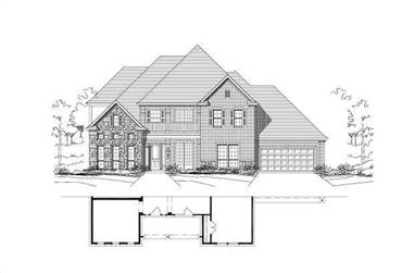 5-Bedroom, 4525 Sq Ft Luxury Home Plan - 156-1301 - Main Exterior