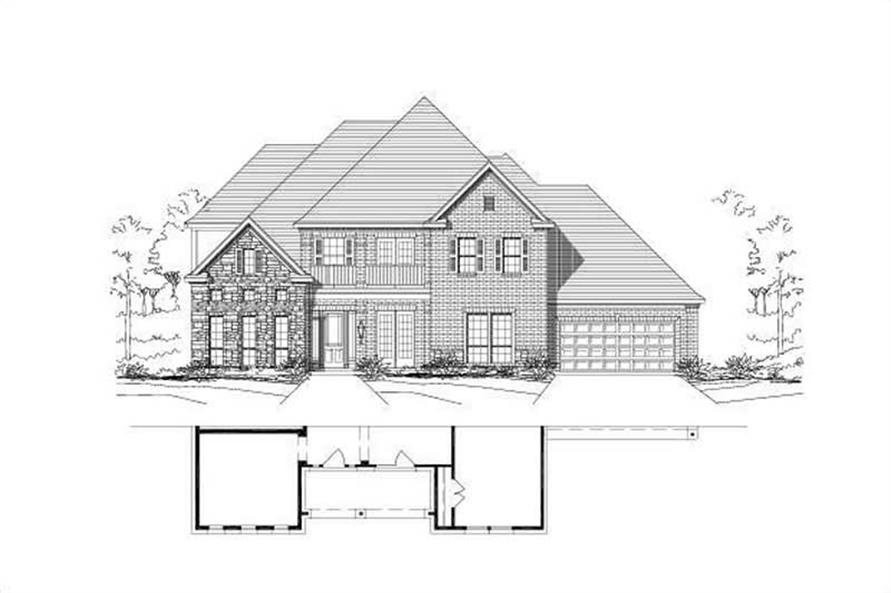 Main image for house plan # 16551