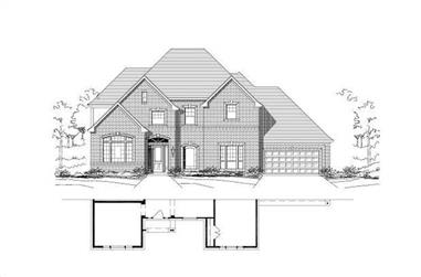 5-Bedroom, 4525 Sq Ft Luxury Home Plan - 156-1302 - Main Exterior