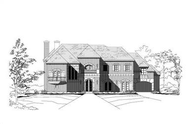 3-Bedroom, 6198 Sq Ft Country Home Plan - 156-1304 - Main Exterior
