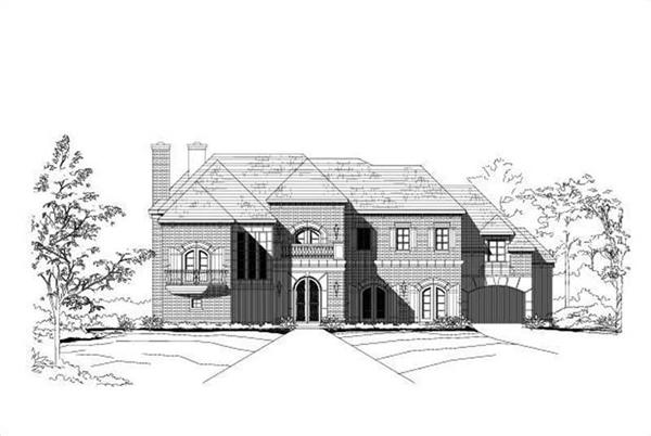 Main image for country house plan # 16412