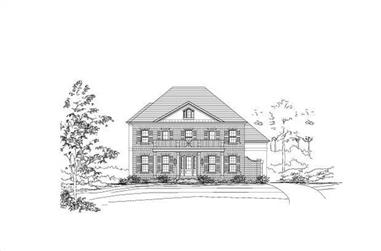 4-Bedroom, 4171 Sq Ft Colonial House Plan - 156-1307 - Front Exterior