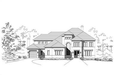 4-Bedroom, 4873 Sq Ft Mediterranean Home Plan - 156-1310 - Main Exterior