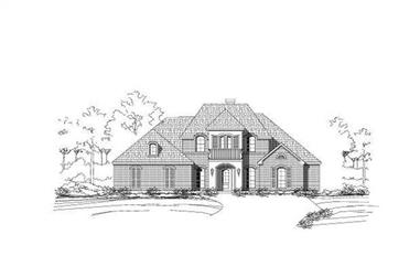 5-Bedroom, 3531 Sq Ft Luxury Home Plan - 156-1312 - Main Exterior
