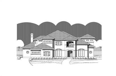 4-Bedroom, 6272 Sq Ft Luxury House Plan - 156-1313 - Front Exterior