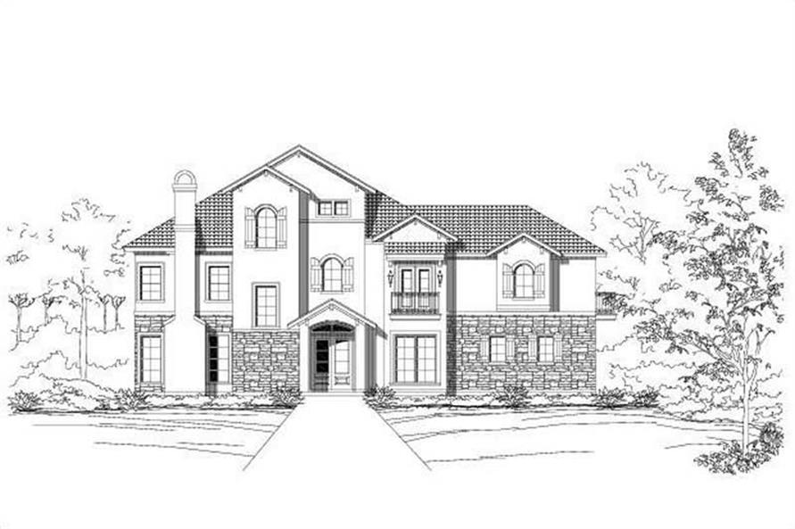 3-Bedroom, 3267 Sq Ft Country House Plan - 156-1314 - Front Exterior