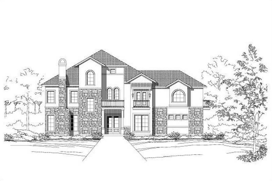 3-Bedroom, 3267 Sq Ft Spanish House Plan - 156-1315 - Front Exterior