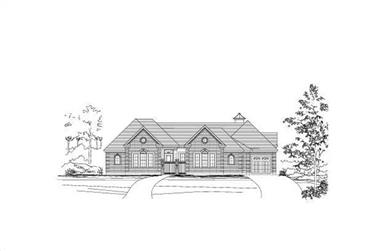 3-Bedroom, 3940 Sq Ft Luxury House Plan - 156-1318 - Front Exterior