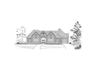 4-Bedroom, 4237 Sq Ft In-Law Suite House Plan - 156-1319 - Front Exterior