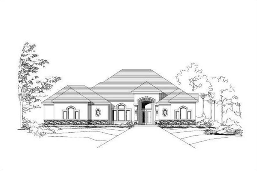 3-Bedroom, 3440 Sq Ft Luxury House Plan - 156-1320 - Front Exterior