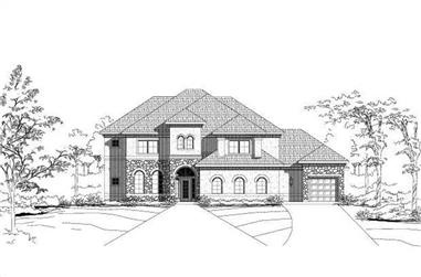5-Bedroom, 4680 Sq Ft Tuscan Home Plan - 156-1321 - Main Exterior