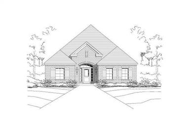 3-Bedroom, 1804 Sq Ft Ranch Home Plan - 156-1323 - Main Exterior