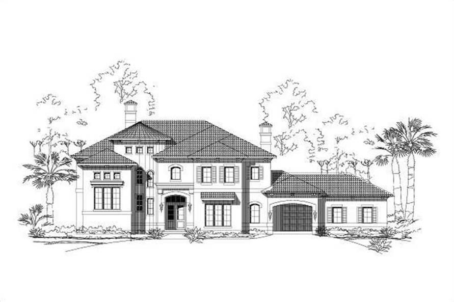5-Bedroom, 5813 Sq Ft Luxury House Plan - 156-1324 - Front Exterior