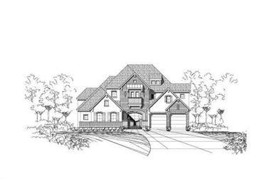 4-Bedroom, 4458 Sq Ft Country Home Plan - 156-1325 - Main Exterior