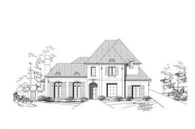 4-Bedroom, 5459 Sq Ft Luxury Home Plan - 156-1327 - Main Exterior