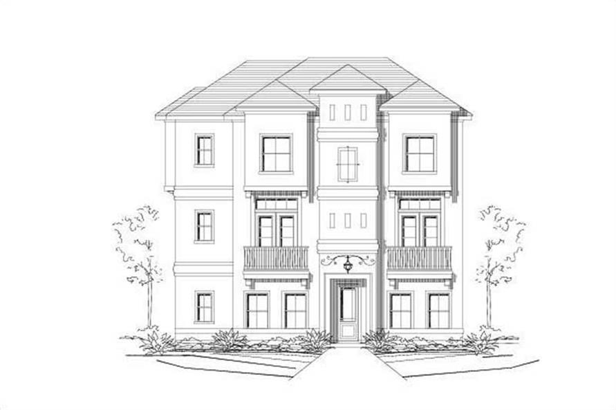 3-Bedroom, 1975 Sq Ft Traditional Home Plan - 156-1329 - Main Exterior
