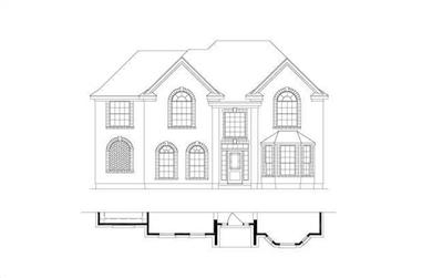 4-Bedroom, 3042 Sq Ft Traditional Home Plan - 156-1330 - Main Exterior