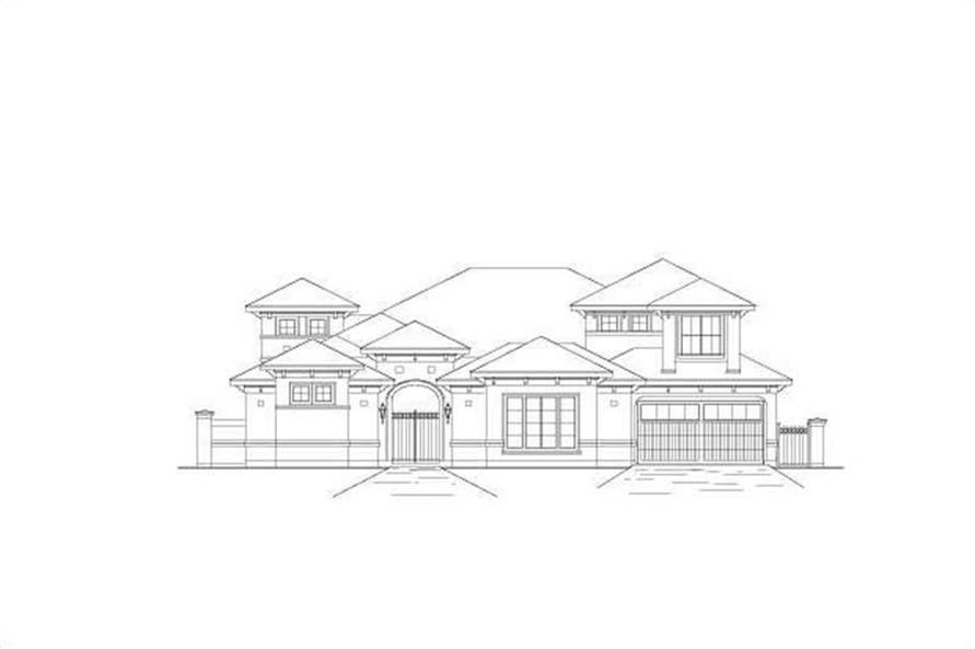 5-Bedroom, 4751 Sq Ft Mediterranean Home Plan - 156-1331 - Main Exterior