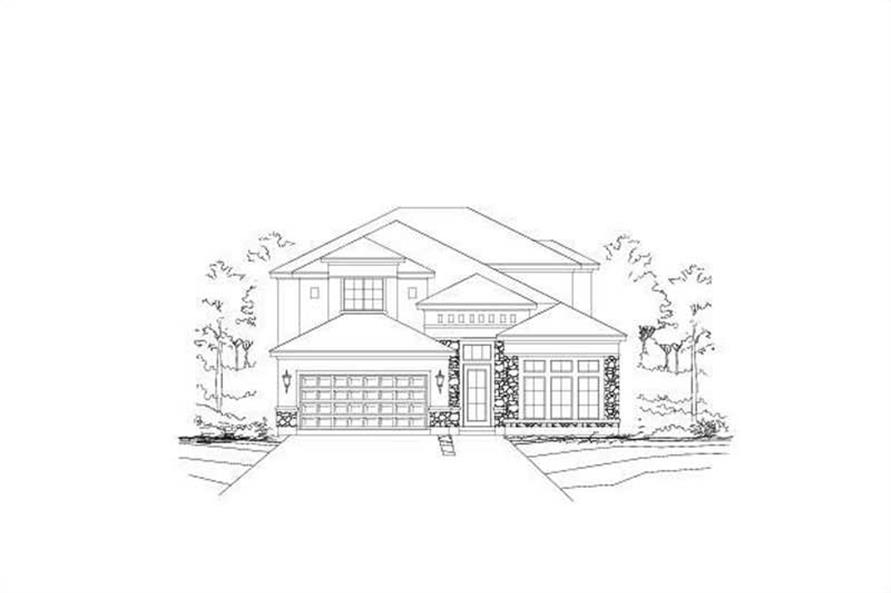 4-Bedroom, 3325 Sq Ft Spanish Home Plan - 156-1332 - Main Exterior