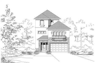 3-Bedroom, 3280 Sq Ft Spanish Home Plan - 156-1333 - Main Exterior