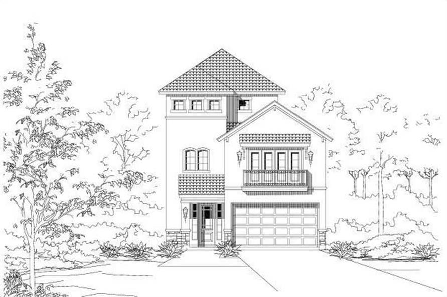 3-Bedroom, 3280 Sq Ft Mediterranean Home Plan - 156-1334 - Main Exterior
