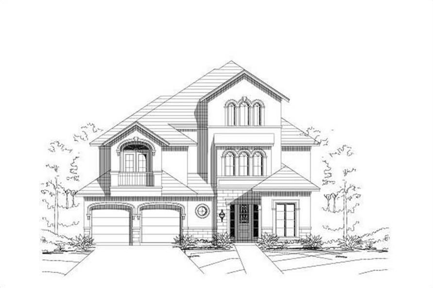 3-Bedroom, 3390 Sq Ft Luxury Home Plan - 156-1336 - Main Exterior