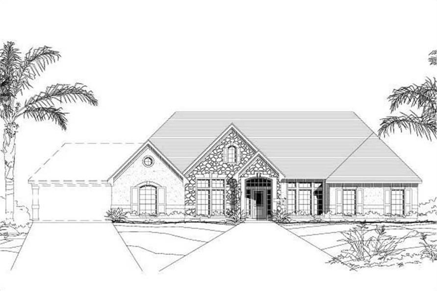 4-Bedroom, 3187 Sq Ft Ranch House Plan - 156-1338 - Front Exterior