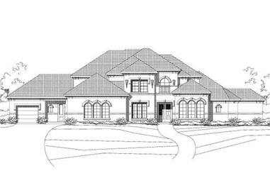 5-Bedroom, 4701 Sq Ft Mediterranean House Plan - 156-1340 - Front Exterior