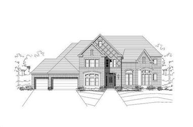 5-Bedroom, 5351 Sq Ft Luxury House Plan - 156-1341 - Front Exterior