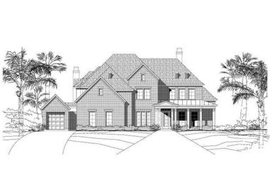 5-Bedroom, 4932 Sq Ft Luxury House Plan - 156-1342 - Front Exterior