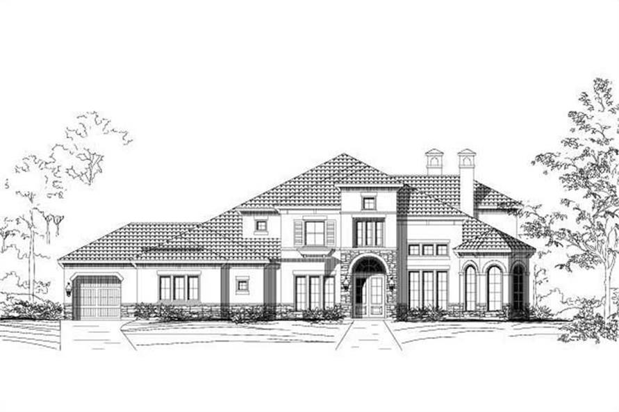 5-Bedroom, 5179 Sq Ft Home Plan - 156-1343 - Main Exterior