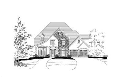 4-Bedroom, 4715 Sq Ft House Plan - 156-1345 - Front Exterior
