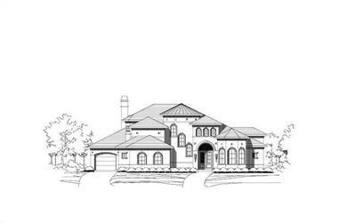 4-Bedroom, 4955 Sq Ft Mediterranean Home Plan - 156-1347 - Main Exterior