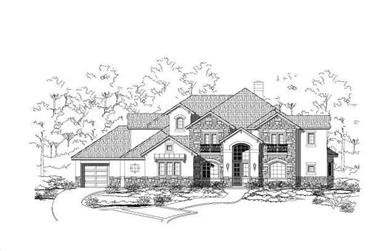 4-Bedroom, 4760 Sq Ft Country Home Plan - 156-1348 - Main Exterior