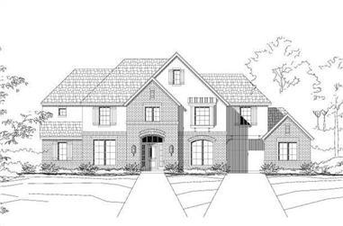 5-Bedroom, 3801 Sq Ft Luxury Home Plan - 156-1349 - Main Exterior