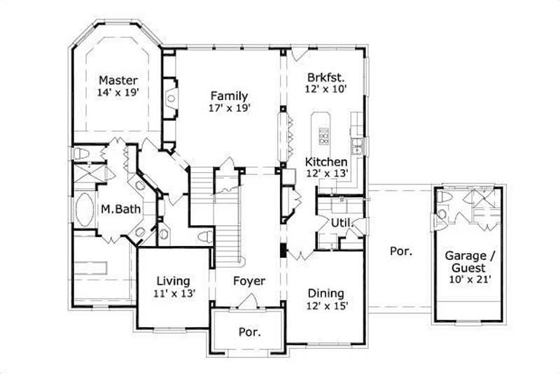 Floor plans with detached casita best free home for Casita plans for homes